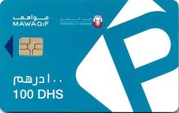 CARTE A PUCE CHIP CARD  بطاقة ذكية EMIRATS ARABES UNIS CARTE STATIONNEMENT DUBAI MUNICIPALITY 100 DHS - United Arab Emirates