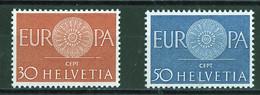 Europa CEPT 1960 Suisse - Switzerland - Schweiz Y&T N°666 à 667 - Michel N°720 à 721 *** - Europa-CEPT