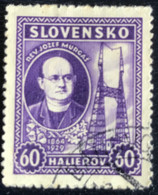 Slovensko - P3/8 - (°)used - 1939 - Michel Nr. 46 - Jozef Murgas - Slovakia