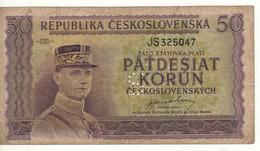 CZECHOSLOVAKIA   50 Korun   P62s    (General Milan Rastislav Stefánik     ND-1945) - Cecoslovacchia