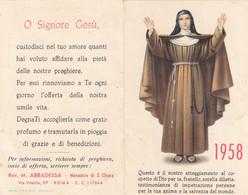 Calendarietto Tascabile S.chiara - Anno 1958 - Petit Format : 1941-60