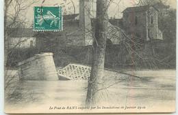 DEP 39 RANS LE PONT EMPORTES PAR LES INONDATIONS 1910 - Other Municipalities