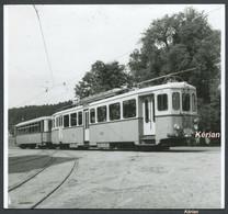 Photo Carrée 105 X 105 - Suisse (V.D.) Lausanne - Le Châlet-à-Gobet - Tramway Motrice N° 131 - Voir 2 Scans - Treni