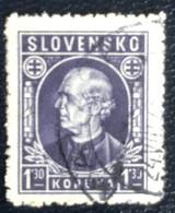 Slovensko - P3/8 - (°)used - 1942 - Michel Nr. 97 - Andrej Hlinka - Slovakia