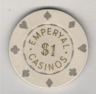 TURQUIE,TURKEI TURKEY ISTANBUL EMPERYAL  CASINO  TOKENS - Casino