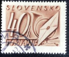 Slovensko - P3/8 - (°)used - 1942 - Michel Nr. 26 - Brief En Posthoorn - Slovakia