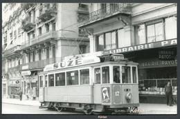 Photo Cartonnée Format CPA - Suisse (V.D.) Tramway De Vevey (Montreux) - Phot. Zalkind ? - Voir 2 Scans - VD Vaud