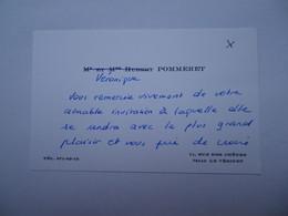 Invitation Rallye Sartel Huré - Le Vésinet - Cartes De Visite Famille POMMERET - Visitenkarten