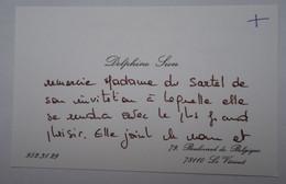 Invitation Rallye Sartel Huré - Le Vésinet - Cartes De Visite Famille SION - Visitenkarten