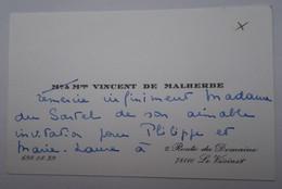 Invitation Rallye Sartel Huré - Le Vésinet - Cartes De Visite Famille DE MALHERBE - Visitenkarten