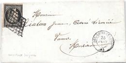 N°3 Grille DOL DE BRETAGNE 1849 (34) Ille Et Vilaine - Poststempel (Briefe)