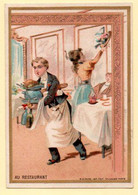 Chromo Pétrole Oural Pour Les Cheveux. Au Restaurant. - Kaufmanns- Und Zigarettenbilder