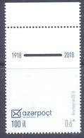 2018. Azerbaijan, 100y Of Azerbaijan Post, 1v,  Mint/** - Azerbaïjan