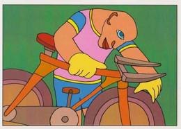 Cpm 1741/593 ERGON - Homme à Bicyclette  - Vélo - Cyclisme - Bicycle - Cycle - Illustrateurs - Illustrateur - Ergon