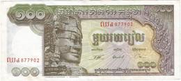 Camboya -  Cambodia 100 Riels 1957 Pk 8.c.2 Ref 2937.2 - Cambodja