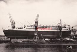 CPSM Lancement Du Paquebot FRANCE Aux Chantiers De L'Atlantique 44 St SAINT-NAZAIRE Mai 1960 (Gaby). - Paquebote