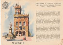 CARTOLINA NON VIAGGIATA REPUBBLICA SAN MARINO TURISMO SPORT E SPETTACOLO (ZX903 - San Marino