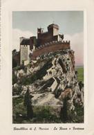 CARTOLINA VIAGGIATA REPUBBLICA SAN MARINO LA ROCCA E FORTEZZA 1953 (ZX904 - San Marino