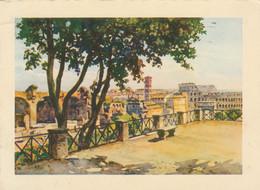 CARTOLINA VIAGGIATA ROMA DALLA TERRAZZA DEL PALATINO (ZX916 - Panoramic Views