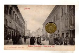 FERRARA Piazza Della Pace NON Viaggiata  Prima Del 1906 Molto Animata - Ferrara