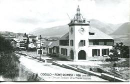 N°4594 R -carte Odeillo -Font Romeu- Via -le Groupe Scolaire Et La Mairie- - Andere Gemeenten