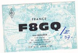 Prix Fixe - QSL - Radio Amateur France - 1973 - F8GQ - Jean Guilloud # 9-12/22 - Radio