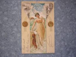 HEGEDUS GEIGER - ART NOUVEAU - MOIS CACHE PAR LE TIMBRE - Künstlerkarten