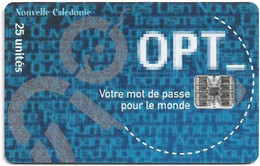 New Caledonia - OPT - Pass OPT 2001 - SC7, 12.2000, 25Units, 20.000ex, Used - New Caledonia