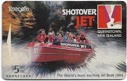 New Zealand - Advertising Cards - Onwards '92 - Shotover Jet Boat Ride, 1994, 5$, 16.500ex, Used - Nuova Zelanda