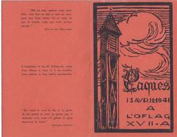 Seconde Guerre Mondiale  AUTRICHE 1941- OFLAG XVII - PAQUES 13 Avril 1941  RARE - Programmes