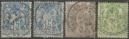 France - Type Sage - Dép.65 Hautes-Pyrénées : Tarbes, Lourdes, Bagnères-de-Bigorre, Sailhan - 1877-1920: Semi Modern Period