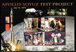 Antigua And Barbuda 2006 Mi# 4394-4397 Kleinbogen ** MNH - Apollo-Soyuz Space Test Project - Raumfahrt