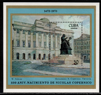 Cuba 1973 Mi# Block 41 ** MNH - Nicolaus Copernicus Monument, Warsaw / Space - Raumfahrt