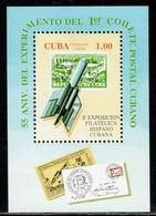 Cuba 1994 Mi# Block 138 ** MNH - Experimental Postal Rocket Flight, 55th Anniv. / Space - Raumfahrt