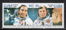 Cuba 2005 Mi# 4718-4719 ** MNH - Pair - Cuban - Soviet Space Flight, 25th Anniv. - Raumfahrt