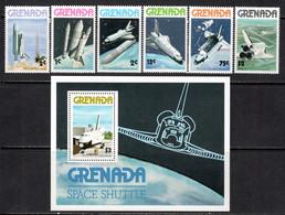 Grenada 1978 Mi# 889-894, Block 71 ** MNH - US Space Shuttle - Raumfahrt
