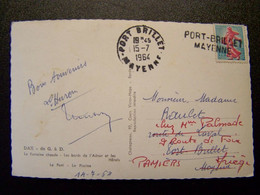 France - Oblitération De Fortune - Annulation Linéaire De PORT-BRILLET (53) - Sur Semeuse Fond Plein - Sur CPSM - Unclassified