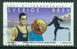 Bm Sweden 1998 MiNr 2078 Used | The Twentieth Century 1900-1938. Arne Borg (swimmer) And Gillis Grafstrom (figure Skater - Gebraucht