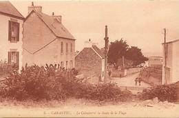 - Finistère -ref-E780- Carantec - Le Calvaire Et La Route De La Plage - Calvaires - Edition Artaud N° 5 - - Carantec