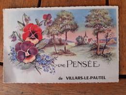 Villars Le Pautel Haute Saône,rare: Une Pensée De... - Otros Municipios
