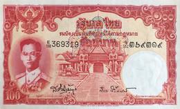 Thailand 100 Bath, P-78d (1955) - AU+ - Signature 41 - Thailand