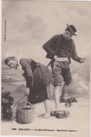 Bv - Cpa BEG MEIL- La Belle Pêcheuse - Spectacle Imprévu - Beg Meil
