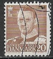 Denmark 1950. Scott #320 (U) King Frederik IX - Danimarca