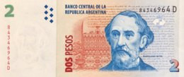 Argentina 2 Pesos, P-352 (2002) - UNC - Sign.variety 3/D - Argentina
