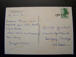 France - Oblitération De Fortune - Annulation Linéaire De LOIR ET CHER  (41) - Sur Liberté - Sur CPSM - Unclassified