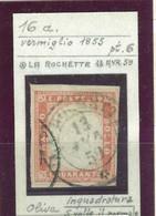 SARDEGNA - SASS. 16a - 40 C. - VERMIGLIO - USATO - ANNULLO LA ROCHETTE - G. OLIVA - FILO DI INQUADRATURA - Sardinien