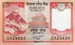 Nepal 5 Rupees, P-76 (2017) - UNC - Nepal