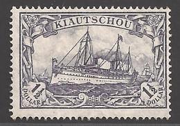 Deutsche Kolonien Kiautschou Lot Aus Michel Nummer 36 II B Ungebraucht Falz - Colonie: Kiautchou