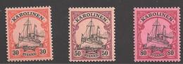Deutsche Kolonien Karolinen Lot Aus Michel Nummer 12/15 Ungebraucht Falz - Colony: Caroline Islands