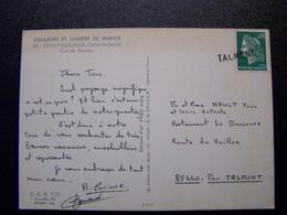 France - Oblitération De Fortune - Annulation Linéaire De TALMONT  (85) - Sur Marianne De Cheffer - Sur CPSM - Unclassified